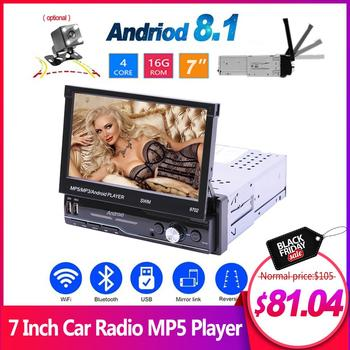 7 Inch Car Radio Android 8.1 GPS Navigation Wifi USB Charging 1 Din HD Touch Screen Car MP5 Player Support Mirror Link