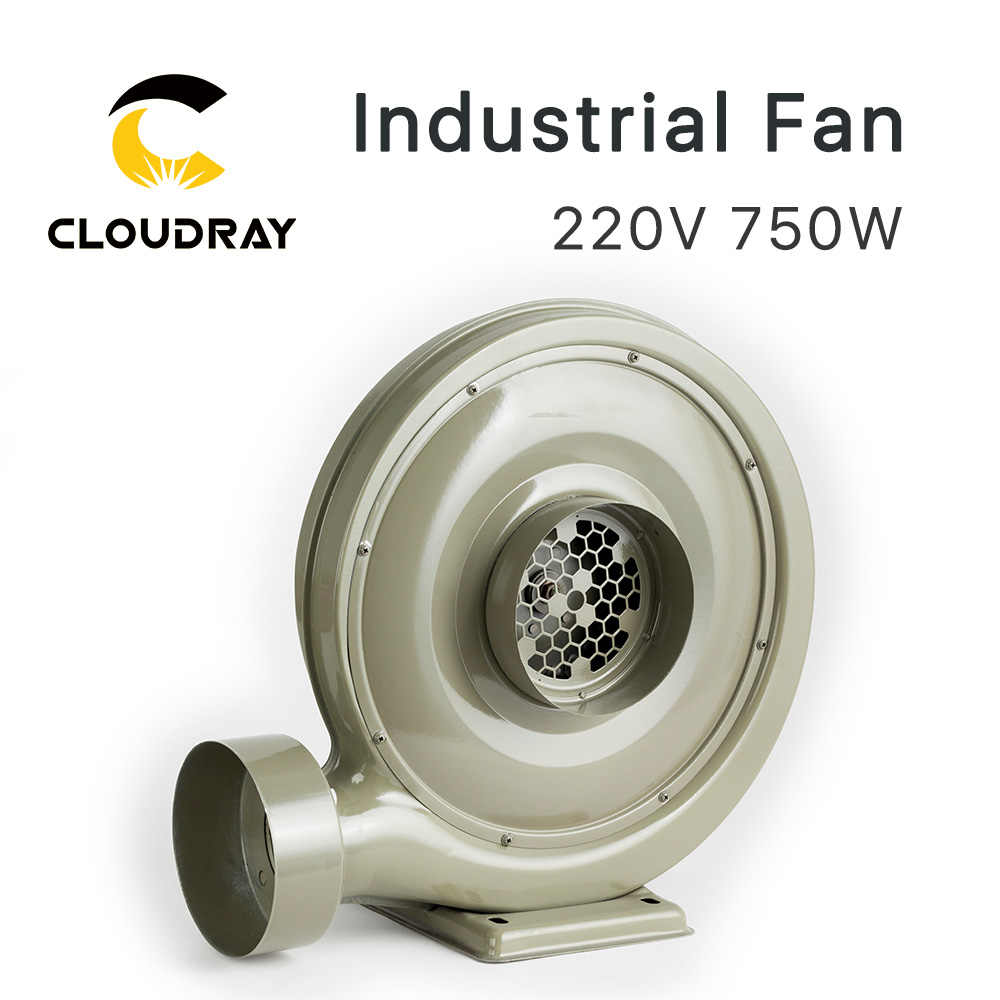 Cloudray 220V 750W Ventilator Air Blower Centrifugaal voor CO2 Lasergravure Snijmachine Medium Druk Lager Geluidsniveau