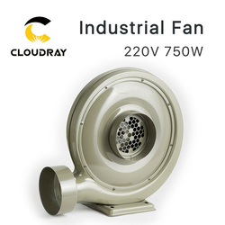 Cloudray 220V 750W Ventilator Air Gebläse Kreisel für CO2 Laser Gravur Schneiden Maschine Medium Druck Weniger Lärm
