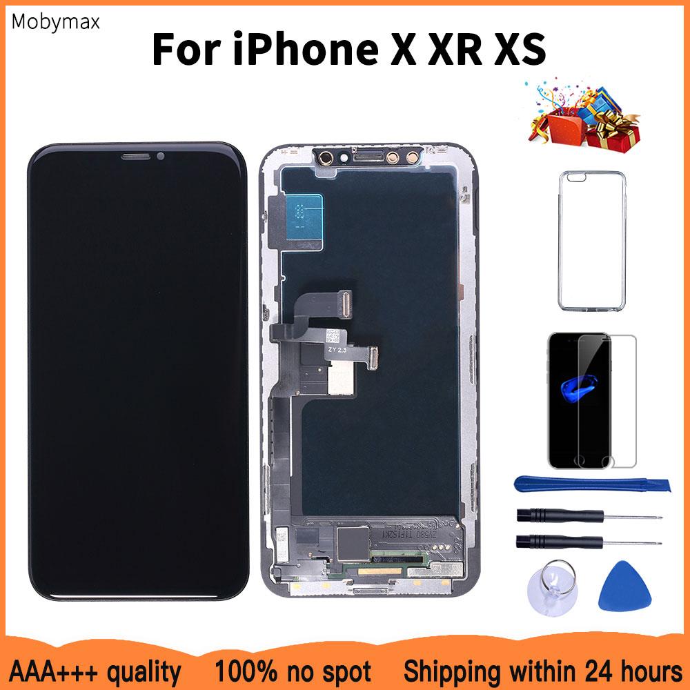 AAAA 100% 新 Oled Iphone × XR ディスプレイ卸売価格工場から Iphone XS 画面 100% テスト良い 3D タッチ