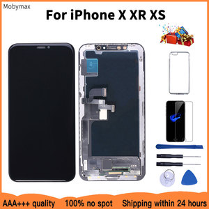 AAAA 100% New OLED Lcd For iPhone X XR Display Wholesale Price From Factory Display For iPhone XS Screen 100% Test Good 3D Touch(China)