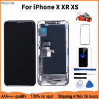 Aaaa 100% novo oled lcd para iphone x xr display preço por atacado de exibição de fábrica para iphone xs tela 100% teste bom toque 3d