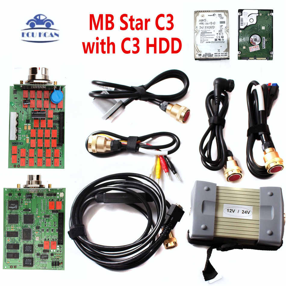 Mb Diagnostic Tool Star C3 Multiplexer Tester Mb Star C3 Met Nec Relais Mb Star C3 Diagnostic Scan Tool Hdd software V2020.3