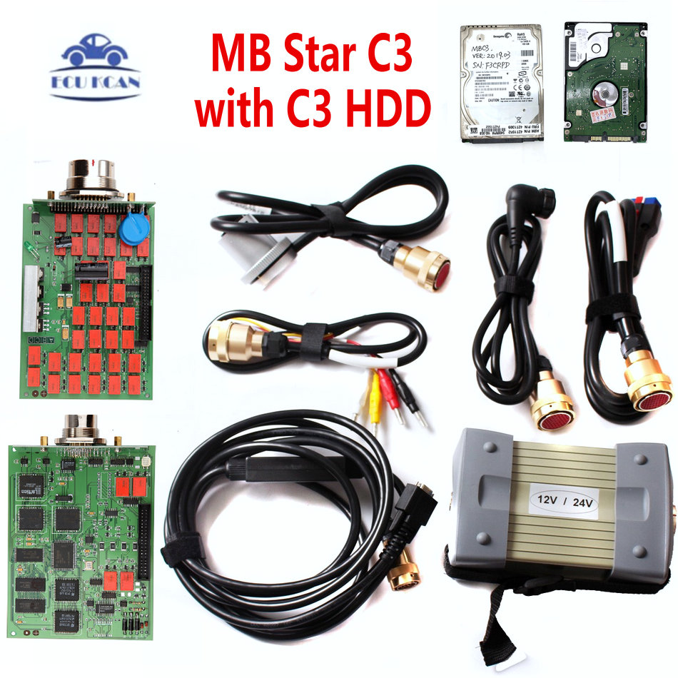MB Diagnostic Tool Star C3 Multiplexer Tester MB Star C3 With NEC Relays MB Star C3 Diagnostic Scan Tool HDD Software V2020 3