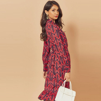Midi Spring Wrap Dress With Long Sleeves AE80303 2