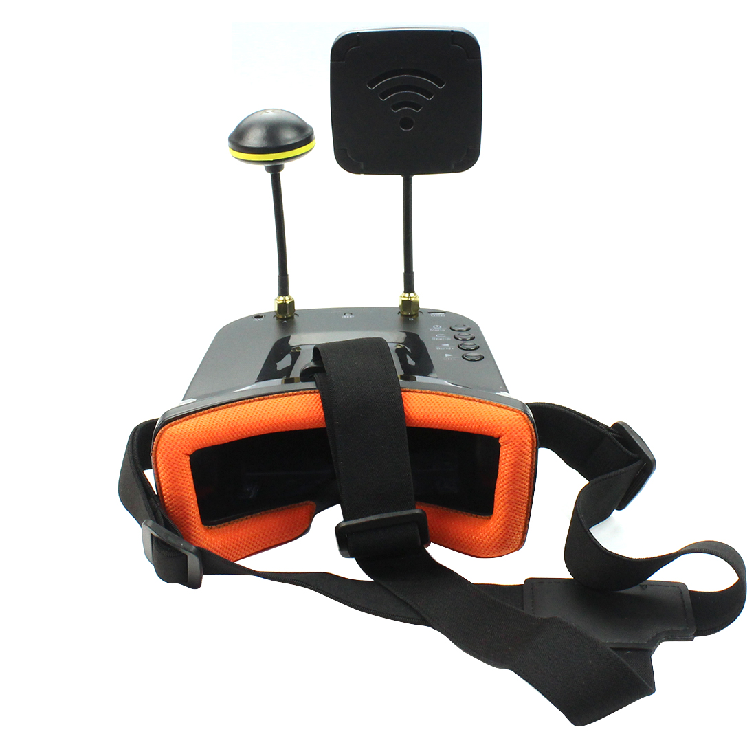 Mini FPV Goggles With Mushroom Antenna Panel Antenna 3 inch <font><b>480</b></font> x <font><b>320</b></font> Display Double Antenna 5.8G 40CH Built-in 3.7V for Racing image