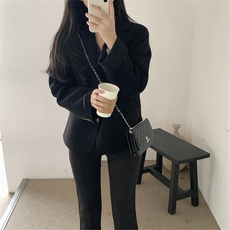 H53fcb84985f840c2a200c057f61902ffs - Winter Korean Revers Collar Solid Woolen Short Coat