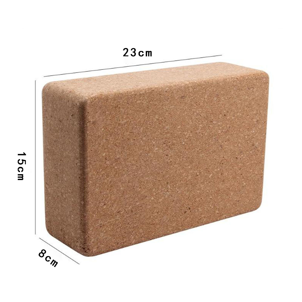 1PC 100% Cork Wood Yoga Block Brick Workout Equipment Odorless Fitness Gym Exercise Sport Tool Can Accept Logo Patter Design