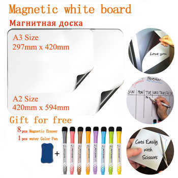 NEW A2+A3 Magnetic Whiteboard Dry Erase Fridge Sticker Office & School Supplies Message Board Soft Planner Calendar Table - DISCOUNT ITEM  56 OFF All Category