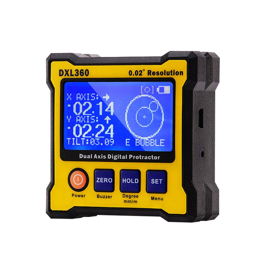 DXL360S Digital Protractor Inclinometer Dual Axis Angle Level Gauge Precision