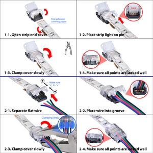 5 stücke 2pin 3pin 4pin 5pin 6pin LED Streifen Stecker für RGB RGBW RGBWW 3528 5050 LED Streifen Licht Draht verbindung Terminal Splice