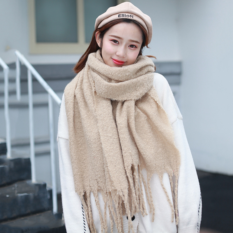 2018 New Style Fashion Solid Color Scarf Silk Scarves Women's Spring And Autumn Shawl Japanese Korean Beach Scarf