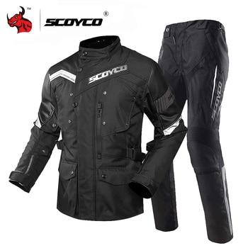 Clearance SCOYCO Waterproof Motorcycle Jacket Men Chaqueta Moto Motocross Jacket With Removeable Linner Moto Jacket JK48 P018