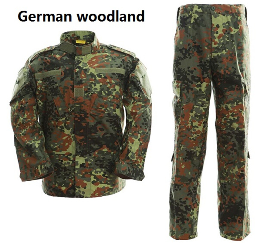 Men s German flecktarn camo military uniform camouflage suit paintball army fatigues clothing combat pants tactical