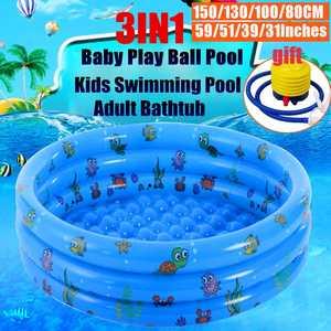 Kids Pool Bathtub Swimming-Pool Baby Inflatable Outdoor Children Basin Ocean-Ball 80/100/130/150cm