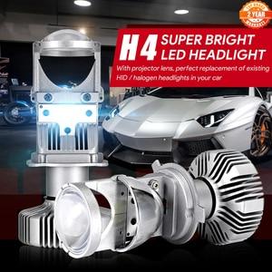 Image 1 - NOVSIGHT H4 LED hi lo mini projector lens headlight for car clear beam pattern 12V 6500k no astigmatic problem lifetime warranty