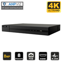 Hikvision Hilook NVR 108MH C/8P OEM 8CH 4K POE NVR ONVIF Recorder with 2TB HDD USB Backup
