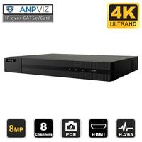Hikvision hilook NVR-108MH-C/8 p oem 8ch 4 k poe nvr onvif gravador com 2 tb hdd usb backup