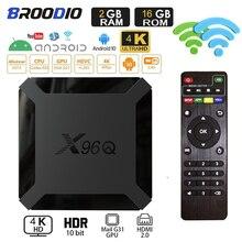 אנדרואיד 10 X96Q טלוויזיה תיבת 4K 8GB 16GB מדיה נגן X96 ש טלוויזיה חכמה 2.4G Wifi Allwinner H313 טלוויזיה מקלט ממיר
