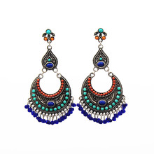 Vintage Ethnic Jewelry Indian Jhumka Small Bell Tassel Earrings Antique silver Color Drop Brincos 2019