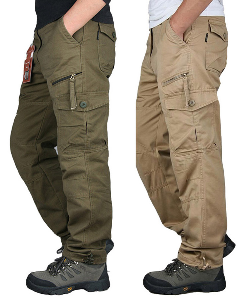 2019 New Men City Tactical Pants Multi Pockets Cargo Pants Military Combat Cotton Pant SWAT Army Casual Trousers