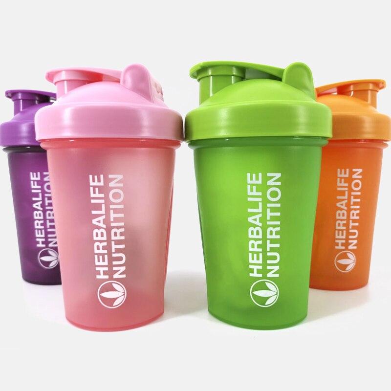400 Ml spor Fitness salonu Shaker açık Draagbare plastik içecek Fles spor Shaker Fles Wei-eiwit Poeder Mengen Fles