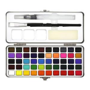 Image 2 - הגעה חדשה 50 צבע שקוף מוצק בצבעי מים נייד צבע בצבעי מים לילדים ציור בצבעי מים נייר ספקי
