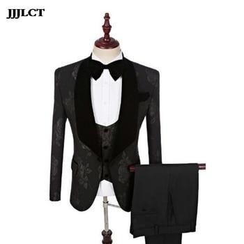 Best man wedding dress men's suit suit summer men's business casual professional decoration Korean version of the print suit
