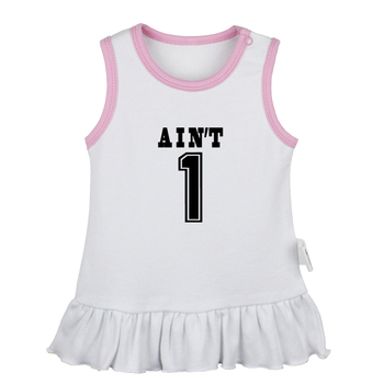 Ain't NO.1 99 problems Lilo & stitch Ohana family Geometry FIG illusion Art Newborn Baby Dresses Toddler Sleeveless Dress