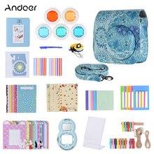 Andoer PU Camera Bag Protect Case Pouch For Fujifilm Instax Mini 8 8+Mini 9 Cases Small PU Instant Camera Shoulder Bag
