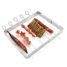 Stainless Steel Simple Barbecue Outdoor Camping Hiking BBQ Grill Home Wild Portable Gadget Frame