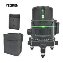 Green Blue Light Automatic Leveling Laser Level 2 Lines 5 Lines Horizontal Vertical Measure Meter Outdoor Laser Meter