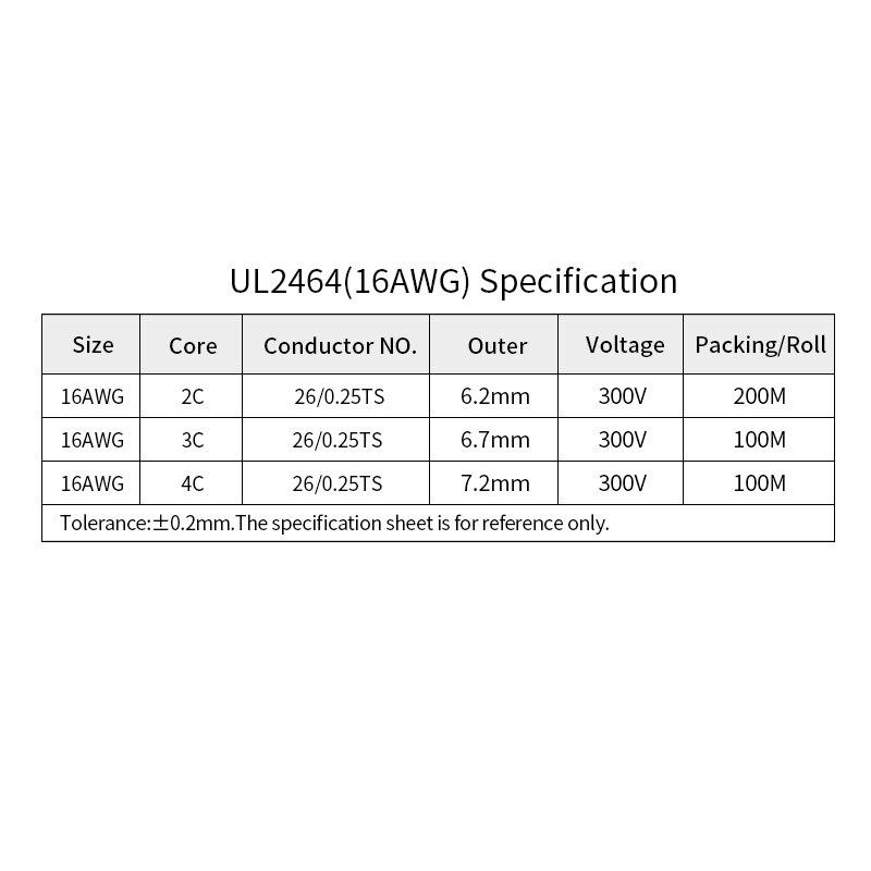 1m 16awg ul2464 linha de audio do 04