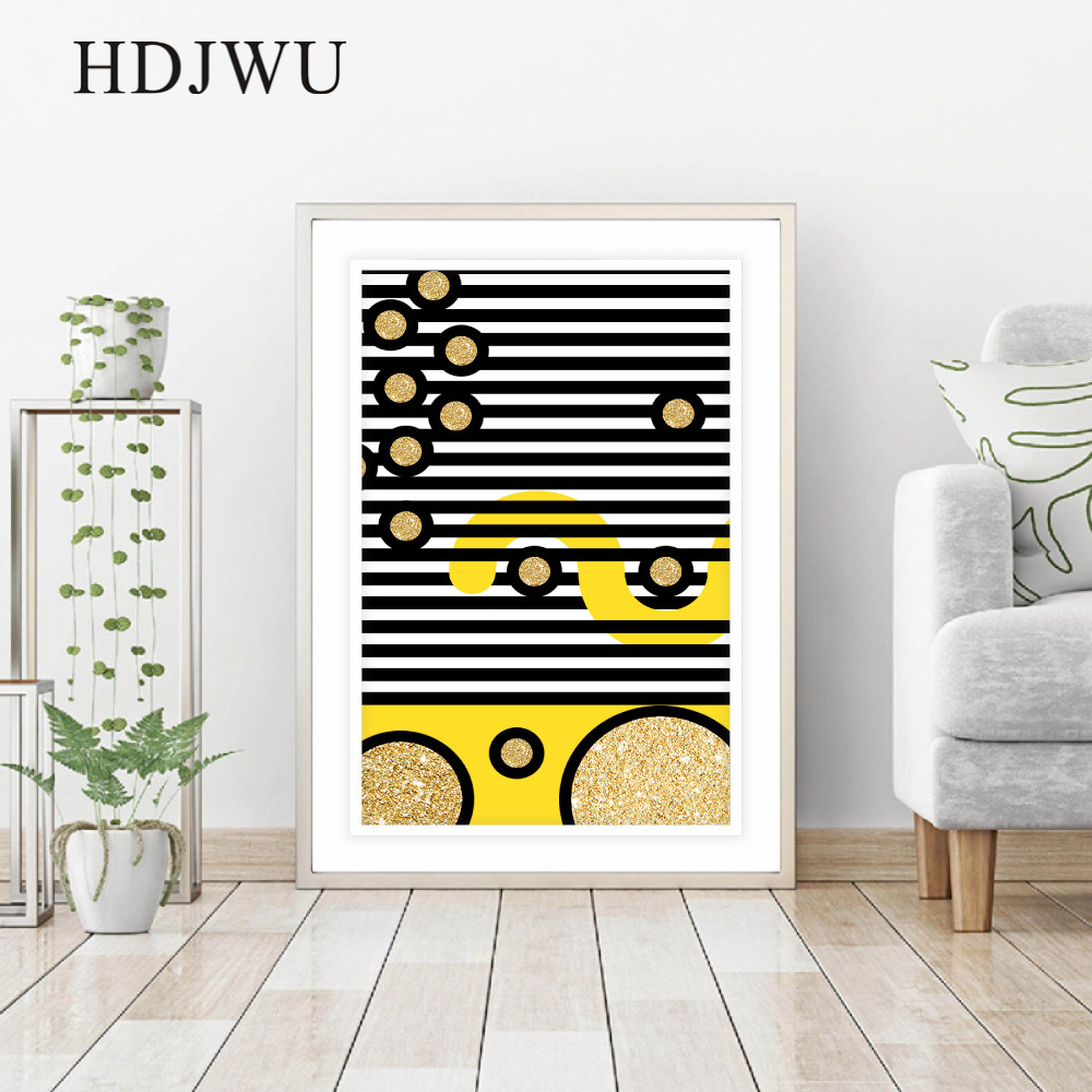 Modern Fashion Simple Art Decor Canvas Wall Painting Picture GeometryHome Printing Posters Wall Pictures for Living Room DJ545 in Painting Calligraphy from Home Garden