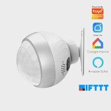 Tuya-Mini détecteur de mouvement PIR, wi-fi, capteur de mouvement infrarouge pour la sécurité domestique, avec alarme et avertissement, compatible Alexa go