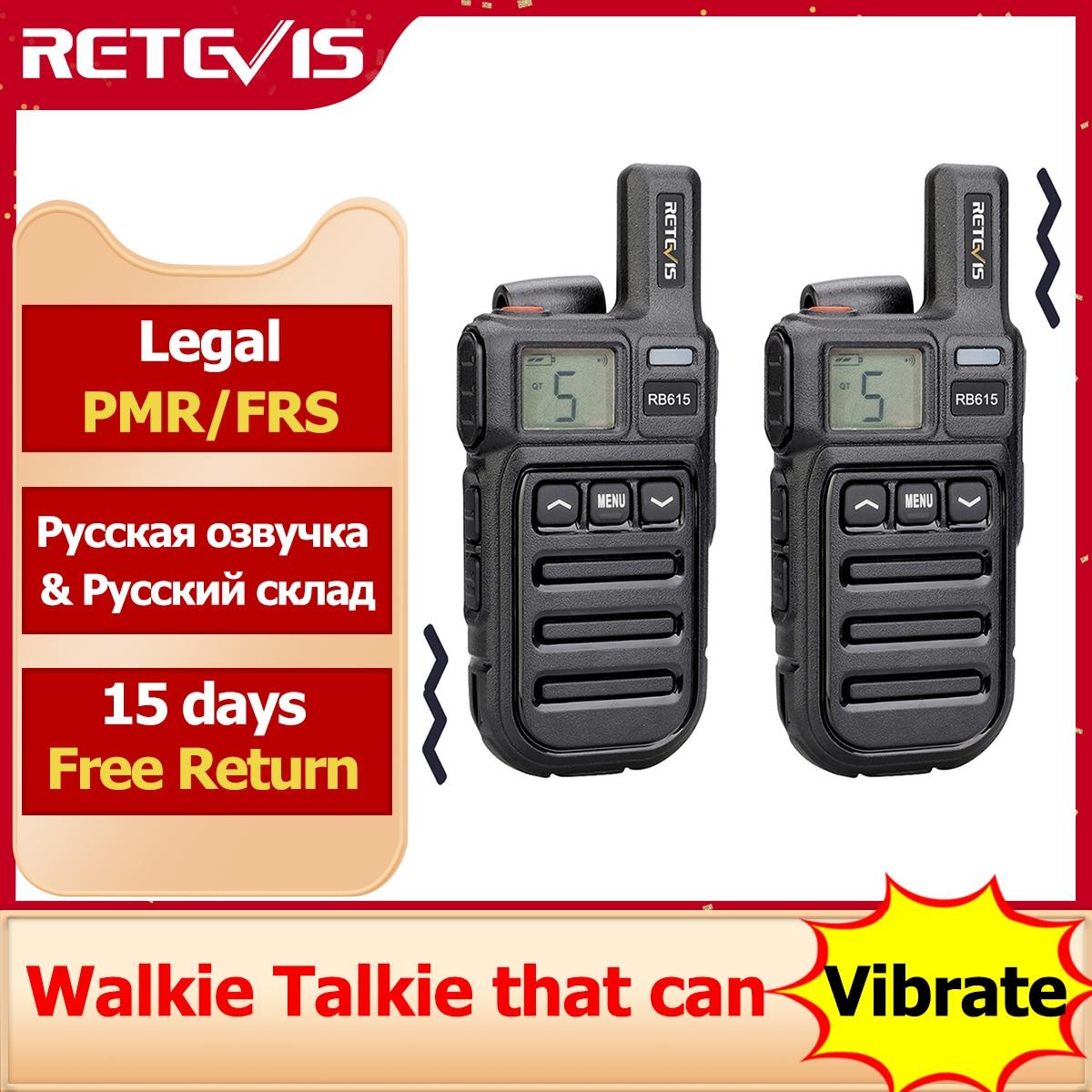 Retevis RB615 PMR 미니 워키 토키 PMR 446 PTT FRS 워키 토키 1 또는 2 pcs 레스토랑 사냥 frs에 대 한 휴대용 양방향 라디오|무전기| - AliExpress