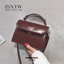 купить ISXTW Shoulder Bag PU Bag Woman 2019 New Messenger Bag Wild Simple Shoulder Retro Small Square Bag Fashion Handbag / Female A25 дешево
