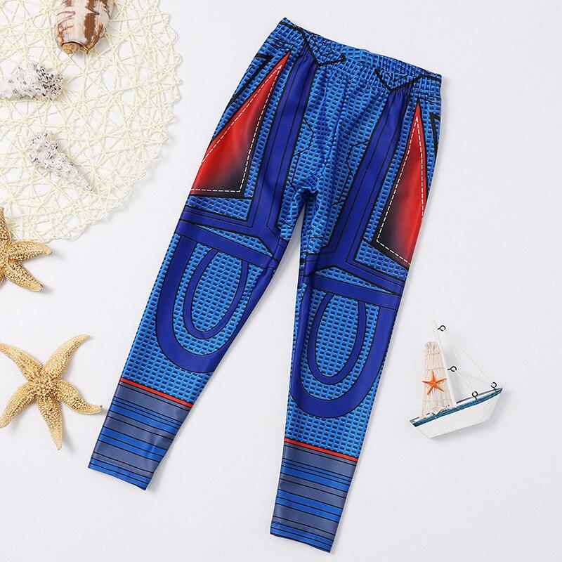 New Style Boy's Cartoon Long Sleeve Split Type Swimsuit Set Kids Swimming Training Three-piece Set