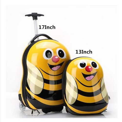New 3D Animals Children Backpack Cartoon Wheeled Luggage Suitcase/ABS PC Travel Trolley Suitcase/kid Wheeled Bag  Travel Luggage