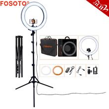 FOSOTO RL 18 Photography Lighting Dimmable Ring Lamp Camera Ring Lamp Led Ringlight With Tripod Stand For Phone Youtube Makeup