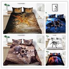 Комплект постельного белья с 3d принтом пауков пододеяльник