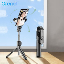 Orendil Wireless Bluetooth Remote Control Selfie Stick With Tripod For Mobile Phone, Desktop Stand Portable Stretchable Holder