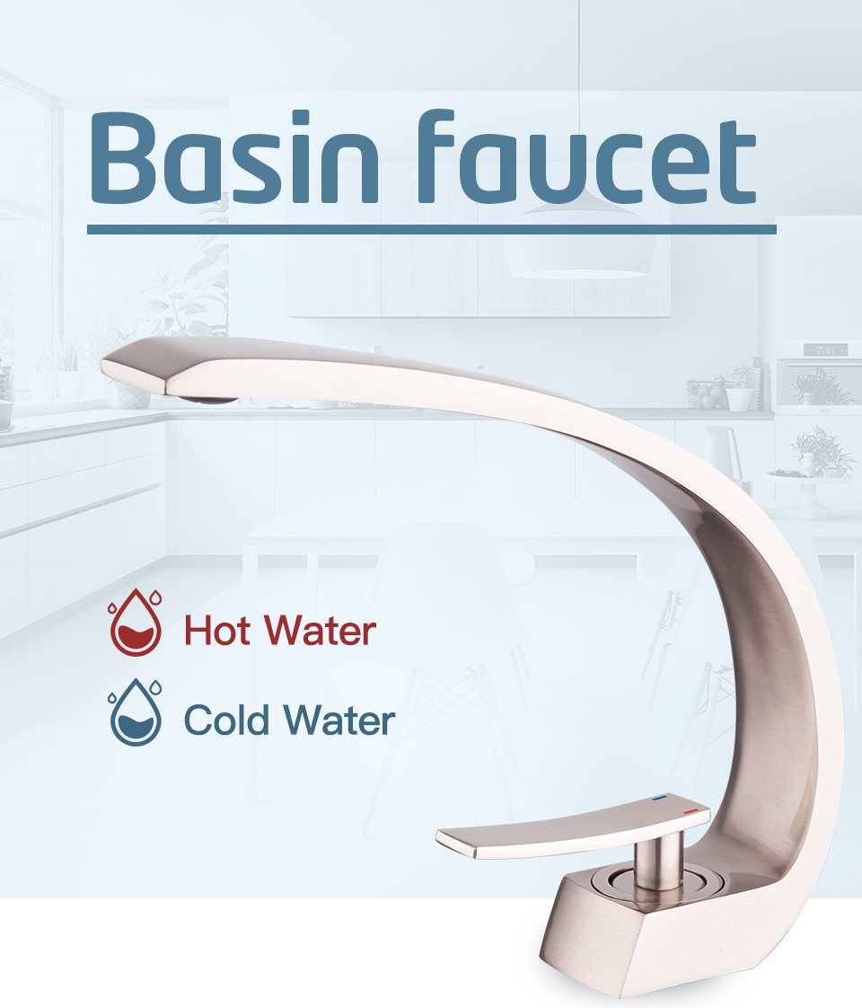 H53ffa361e76249129a0bbe80a7654322M Frap new bath Basin Faucet Brass Chrome Faucet Brush Nickel Sink Mixer Tap Vanity Hot Cold Water Bathroom Faucets y10004/5/6/7