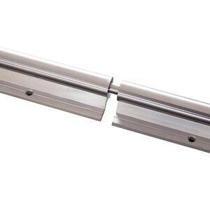 Image 3 - Kostenloser versand 2 Set SBR20 3000mm(1500 + 1500) 20 MM VOLLSTÄNDIG UNTERSTÜTZT LINEARE SCHIENE WELLE ROD mit 4 SBR20UU für CNC