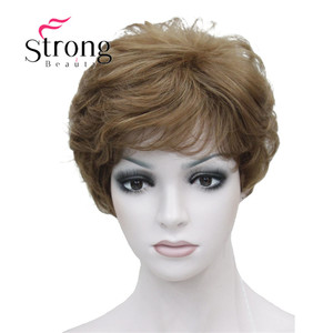 Image 2 - StrongBeauty Womens Wigs Fluffy Naturally Curly Short Synthetic Hair Full Wig 11 Color