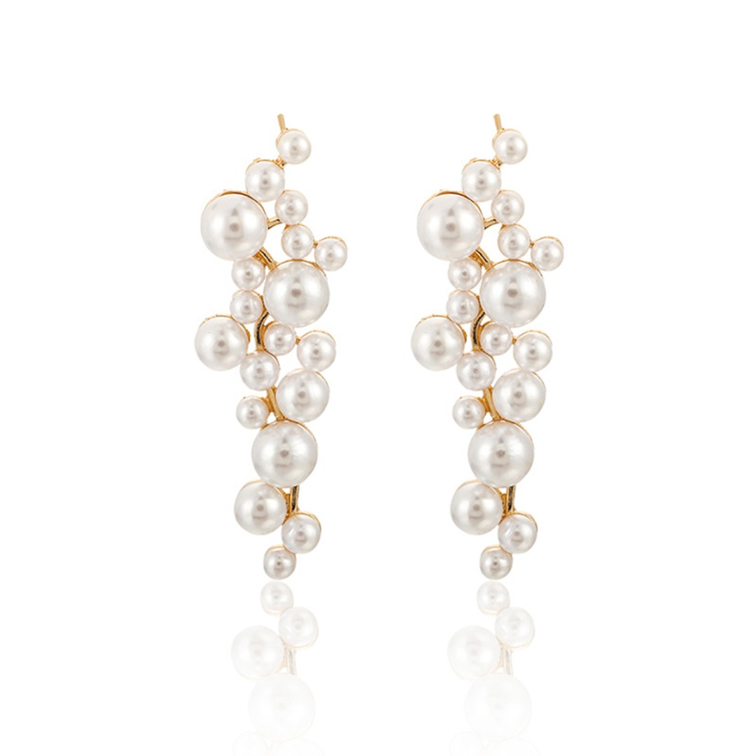 SHARE & Get it FREE | Pair of Chic Pearl Pendant Earrings
