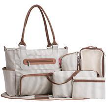 Torba na pieluchy 7 sztuk zestaw pieluszka tote torba o dużej pojemności do dziecko mama tata torba podróżna z wózek pasy