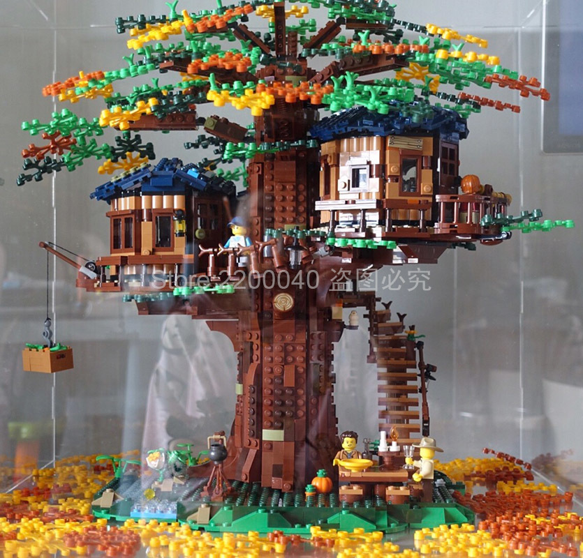 In Stock SY6007 New 2019 Ideas Tree House Model Building Blocks Bricks Kids Toys Christmas Gifts 21318