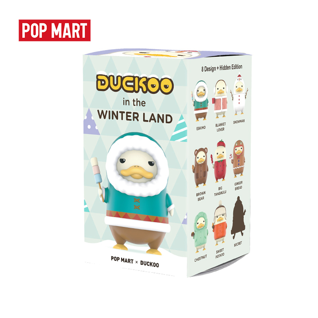 POPMART Duckoo winter Duck figure Blind Box Doll Binary Action Figure Birthday Gift Kid Toy