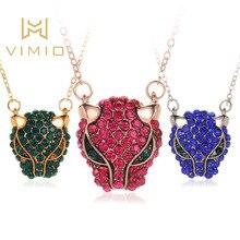retro animal necklace fashion crystal cool leopard head pendant zircon clavicle chain Pendant accessories
